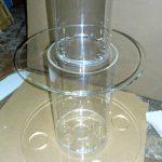 Прозрачные трубы для торта