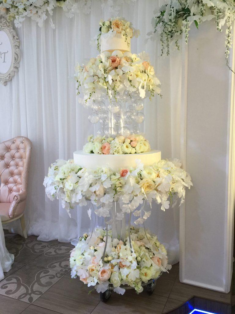 Тележка для торта из акрила с подсветкой